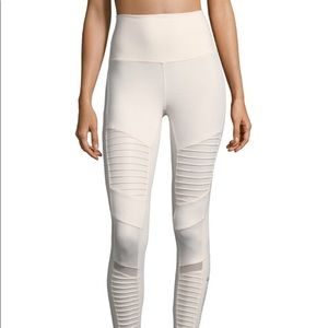 Alo Cream high waist Moto Yoga Legging - Sz S
